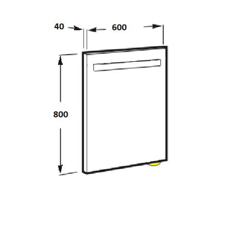 STYLE Огледало 80/60 с лед осветление и сензор за старт/стоп