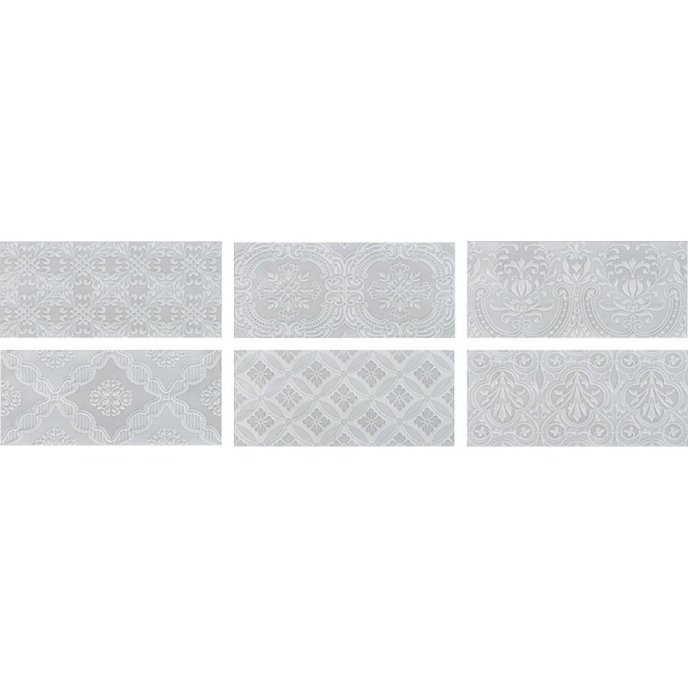 MAIOLICA TENDER GREY 11x 25 Deco ROCA плочки за баня