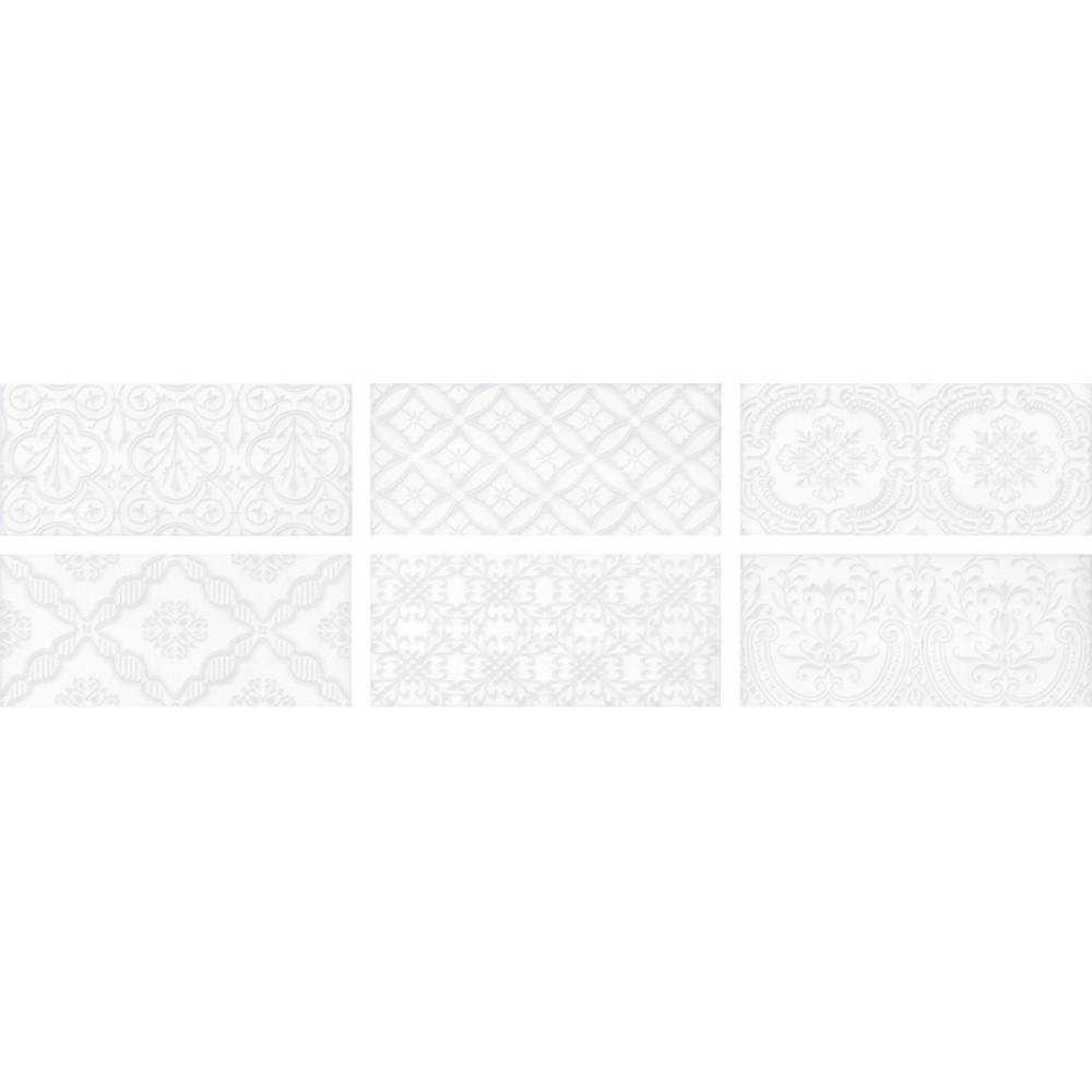 MAIOLICA WHITE 11x 25 Deco плочки за баня ROCA