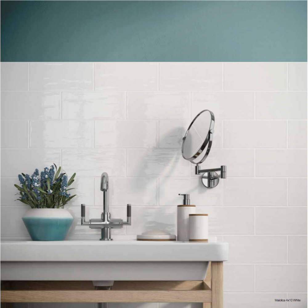 MAIOLICA WHITE 11x 25 ROCA плочки за баня