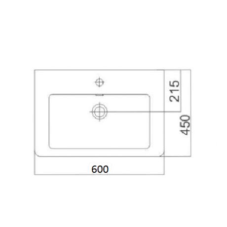 CASERTA умивалник стенен или за мебел 60 / 45