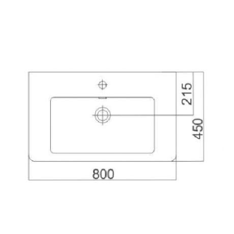 CASERTA 80/45 умивалник стенен или върху мебел
