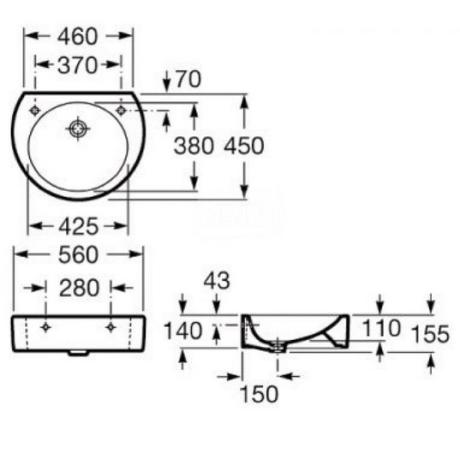 HAPPENING умивалник 560 х 450 mm